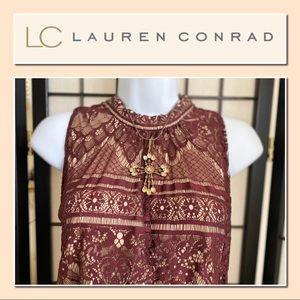 Like New Lauren Conrad Lace Blouse SZ XXL